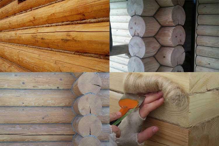 Как конопатить сруб мхом паклей лентой и герметиками