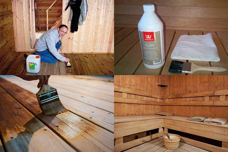 Чем покрыть баню внутри и как для этого подготовить древесину