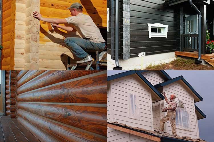 Как покрасить старый дом