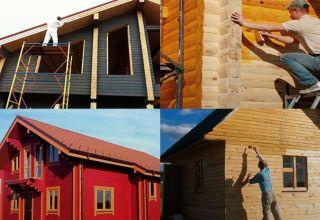 Особенности покраски дома из бруса
