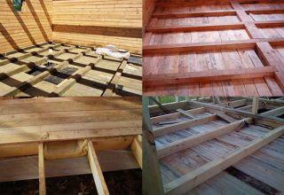 Изготовление чернового пола в деревянном доме