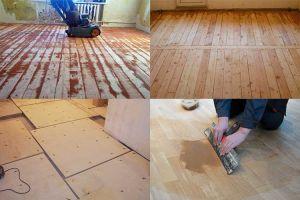 Методы выравнивания пола в деревянном доме