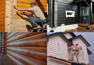 Лучшие виды составов для покраски деревянного дома