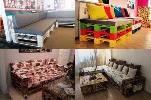 Варианты изготовления дивана из поддонов