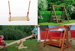 Как своими руками сделать деревянные качели