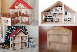 Изготовление кукольного домика из фанеры
