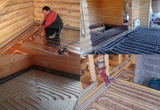 Виды и способы монтажа теплых полов в деревянном доме