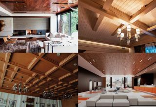 Деревянный потолок – украшение интерьера
