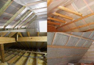 Правила утепления крыши деревянного дома
