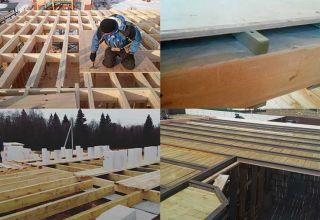Этапы строительства деревянного перекрытия между этажами