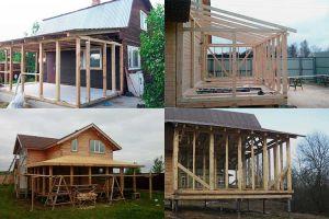 Основные этапы строительства каркасного пристроя к дому