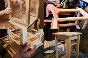 Деревянная табуретка: удобная домашняя мебель своими руками