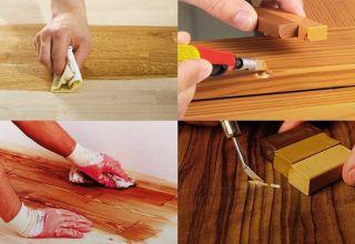 Виды и применение мебельного воска от царапин