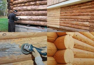 Правила шлифовки сруба из бревен и бруса