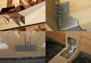 Элементы крепежа для деревянных конструкций