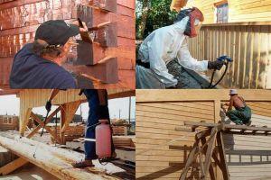 Правила обработки дерева зимним антисептиком и огнезащитой