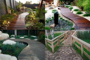 Дорожки из дерева для сада: выбор и устройство