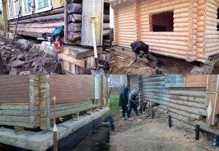 Технология заливки фундамента под стоящий деревянный дом