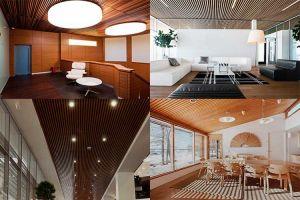 Потолок из деревянных реек: его виды и монтаж