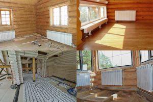 Как лучше сделать отопление в деревянном доме