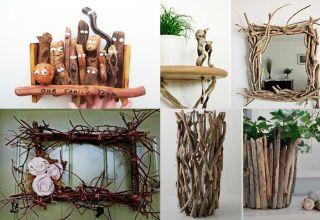 Оригинальные поделки из веток деревьев, которые можно сделать своими руками