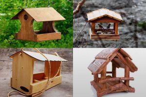 Изготовление разных видов кормушек для птиц из дерева