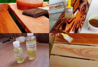Правила обработки дерева льняным маслом