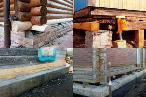 Замена нижних венцов деревянного дома: этапы и способы