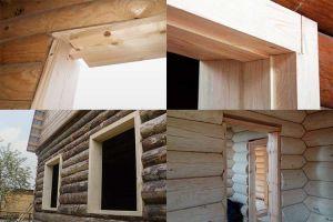 Как сделать окосячку окон и дверей в деревянном доме