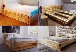 Варианты изготовления своими руками кровати из дерева