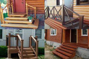 Простая конструкция деревянного крыльца