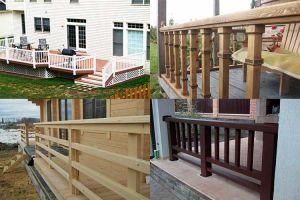 Основные этапы изготовления деревянного ограждения террасы
