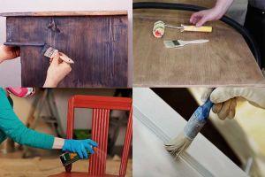 Как самостоятельно покрасить деревянную мебель