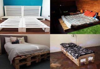 Варианты изготовления кровати из поддонов