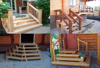Основные этапы изготовления лестницы на крыльцо из дерева