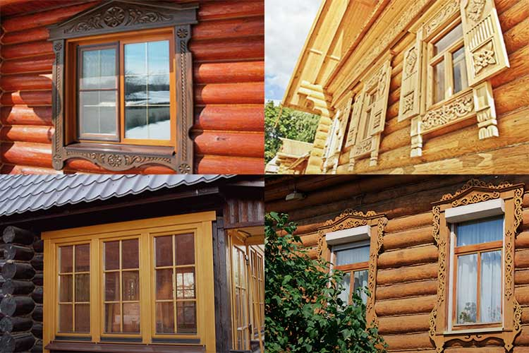 Наличники на окна внутри дома